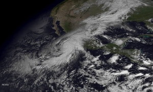 Hurricane Patricia, Category-5, about to make landfall south of Puerto Vallarta, 23 October 2015. Unprecedented.