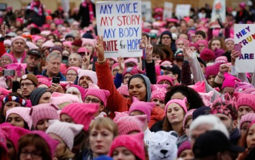 a-pink-knitted-beanie-known-as-the-pussy-hat-became-a-symbol-of-solidarity-among-protestors-knitting-parties-organized-in-the-weeks-before-the-march