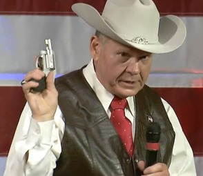 Roy Moore with Pistol_NBC News