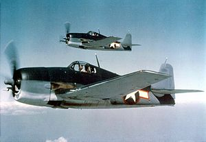 Gruman F6F-3 Hellcats in tri-color camouflage_May_1943