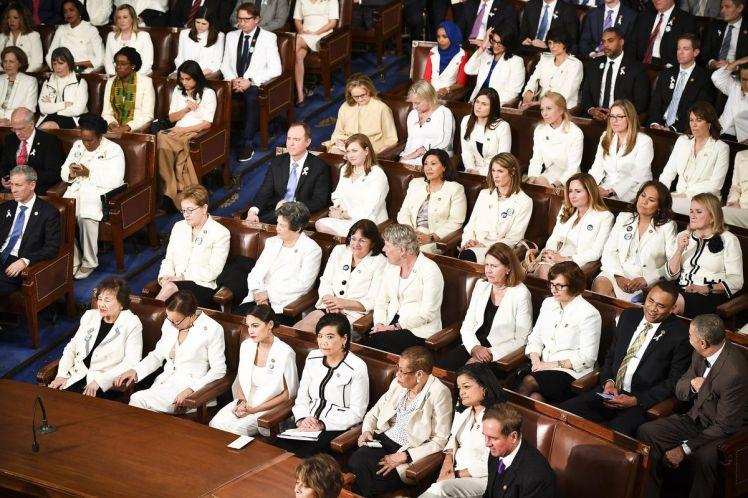 Women Reps in White