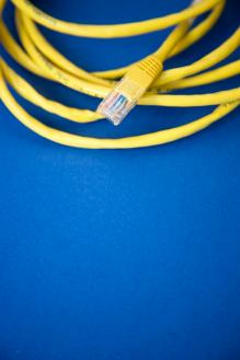 Ethernet.cable on blue