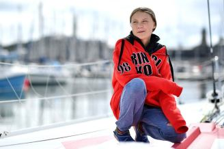 Greta Thunberg on Sailboat