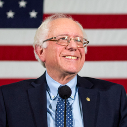 Bernie with flag