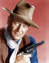 John Wayne and six-shooter